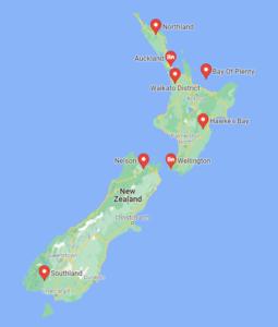 Hub Points in NZ